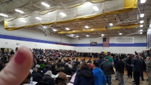 1,400 people showed up to our district meeting for Republican precinct caucuses, 5 times the previous record. I think this is actually every single person who has ever voted Republican in our deep-blue district.