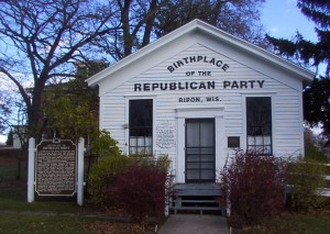 In 1854, sixteen brave men killed the intolerable Whig Party by forming the Republican Party. It's time to do it again.